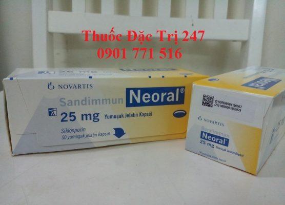 Thuốc neoral 25mg ngăn ngừa thải ghép - Giá thuốc ciclosporin - Thuốc đặc trị 247 (2)