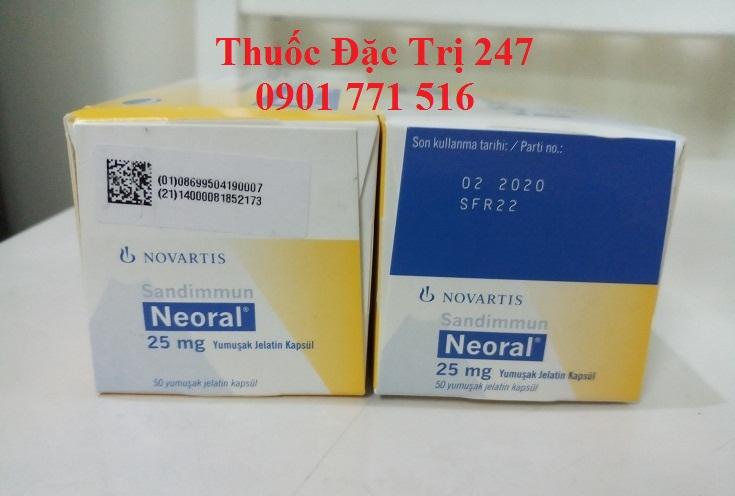 Thuốc neoral 25mg ngăn ngừa thải ghép - Giá thuốc ciclosporin - Thuốc đặc trị 247 (3)