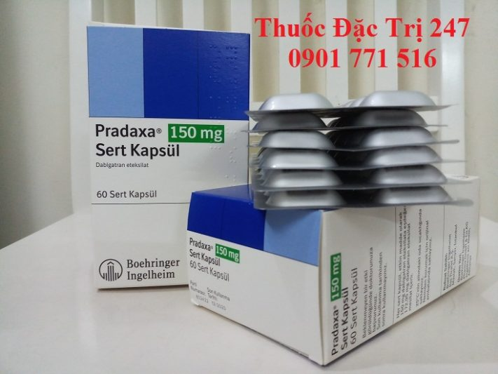 Thuoc Pradaxa 150mg Dabigatran etexilate dieu tri dong mau - Thuoc dac tri 247 (1)