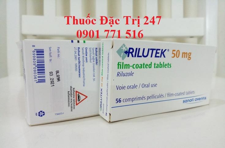 Thuoc Rilutek 50mg Riluzole chong teo co - Thuoc dac tri 247