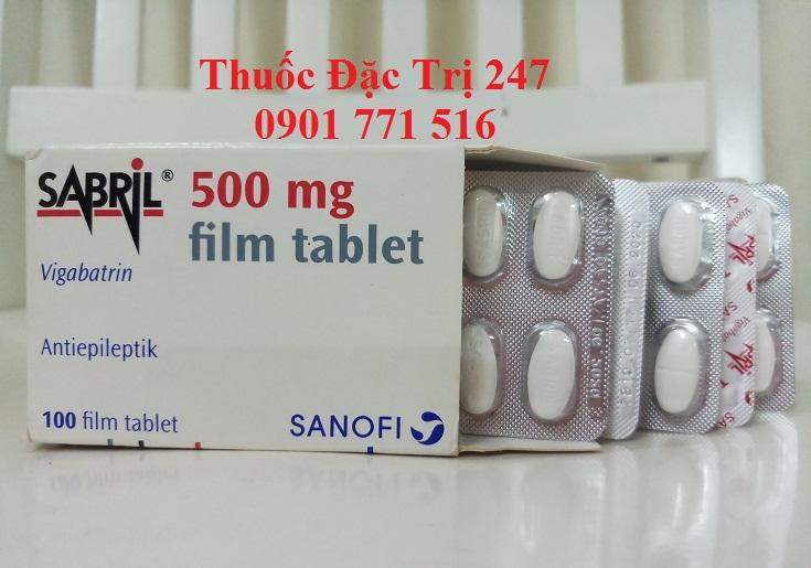 Thuoc Sabril 500mg Vigabatrin chong dong kinh - Thuoc dac tri 247 (1)