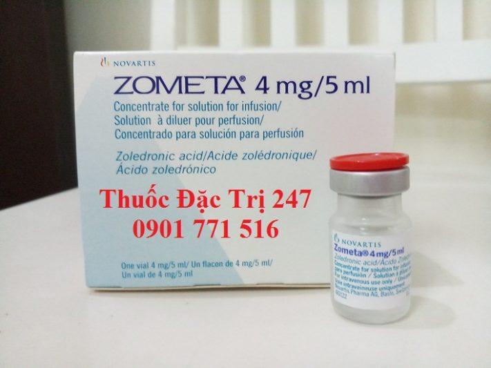 Thuốc Zometa 4mg5ml axit Zoledronic trị ung thư tủy xương - Giá thuốc Zometa - Thuốc đặc trị 247 (1)