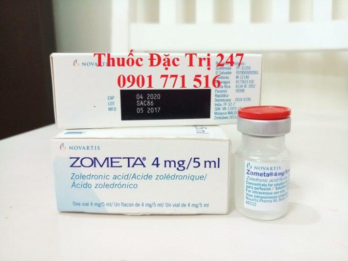 Thuốc Zometa 4mg5ml axit Zoledronic trị ung thư tủy xương - Giá thuốc Zometa - Thuốc đặc trị 247 (2)