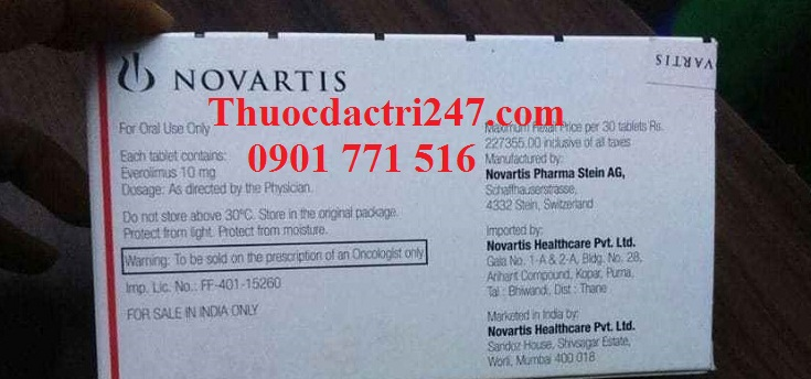 Thuốc afinitor 10mg everolimus điều trị ung thư vú - Thuốc đặc trị 247 (2)