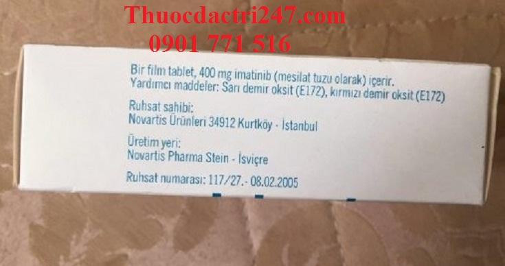 Thuốc glivec 400mg imatinib điều trị ung thư máu - Thuốc đặc trị 247 (3)