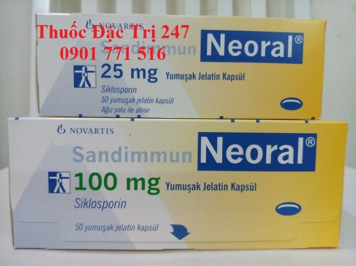 Thuốc neoral 100mg ciclosporin ngăn ngừa thải ghép - Giá thuốc ciclosporin - Thuốc đặc trị 247 (2)