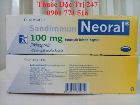 Thuốc neoral 100mg ciclosporin ngăn ngừa thải ghép - Giá thuốc ciclosporin - Thuốc đặc trị 247 (3)