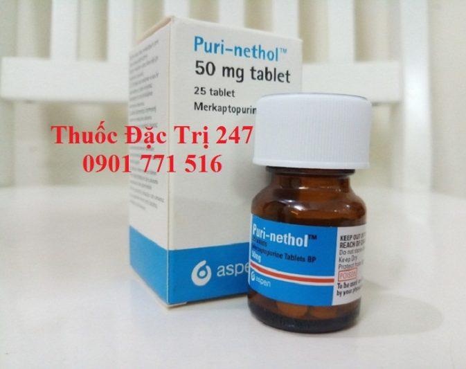 Thuốc purinethol 50mg mercaptoprin phòng chống ung thư, chống chuyển hóa purin Thuốc đặc trị 247 (1)