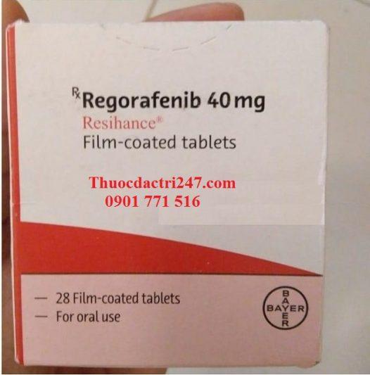 Thuốc regorafenib 40mg resihance điều trị ung thư trực tràng - Thuốc đặc trị 247