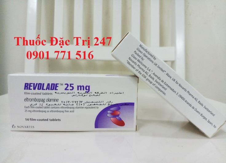 Thuốc revolade 25mg eltrombopag điều trị giảm tiểu cầu - Giá thuốc revolade - Thuốc đặc trị 247 (3)