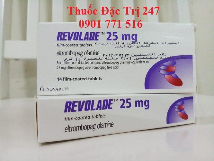 Thuốc revolade 25mg eltrombopag điều trị giảm tiểu cầu - Giá thuốc revolade - Thuốc đặc trị 247