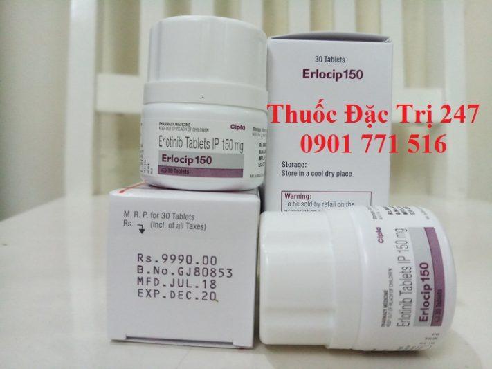 Thuoc erlocip 150mg erlotinib điều trị ung thư phổi - Giá thuốc erlocip - Thuốc đặc trị 247