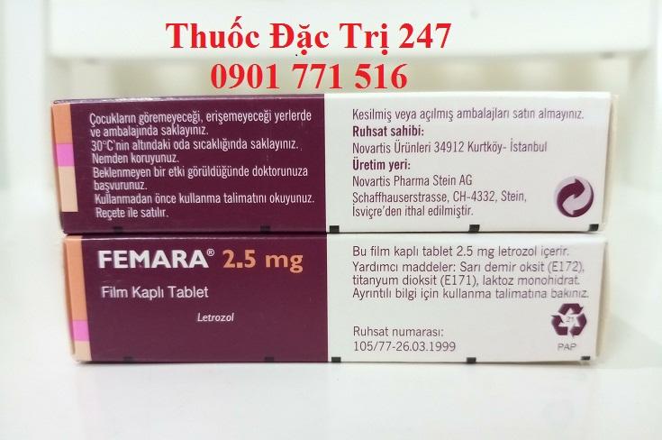 Thuoc Femara 2,5mg Letrozole dieu tri ung thu vu - Gia thuoc Femara - thuoc dac tri 247 (2)