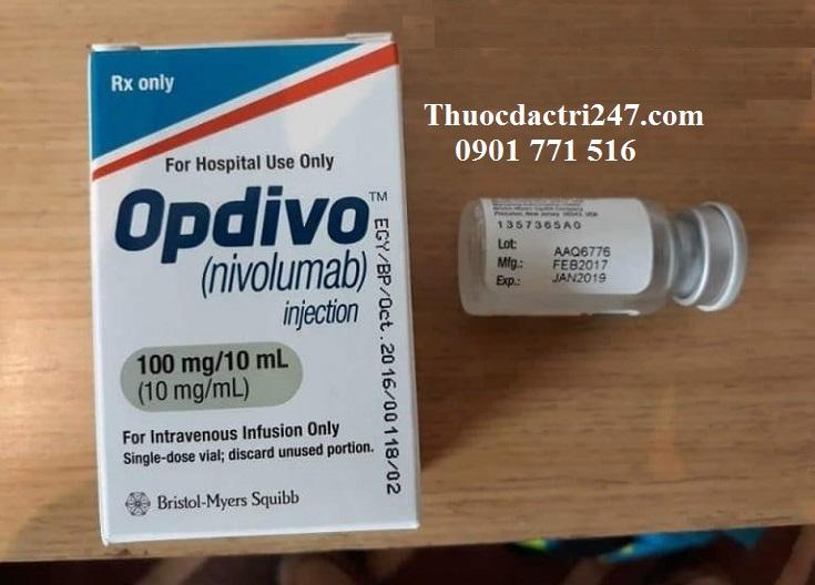 Thuốc opdivo 100mg10ml nivolumab điều trị ung thư trúng đích - thuoc dac tri 247
