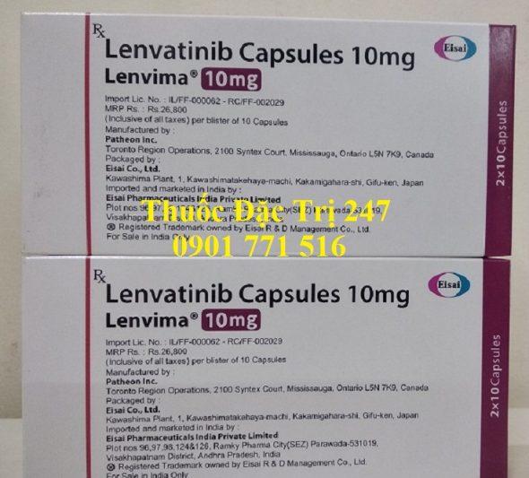 Thuốc Lenvima 10mg Lenvatinib điều trị ung thư tuyến giáp, ung thư gan thận - Thuốc đặc trị 247 (2)