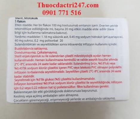 thuoc kadcyla 100mg trastuzumab emtansine phong chong ung thu, gia thuoc kadcyla bao nhieu - thuoc dac tri 247