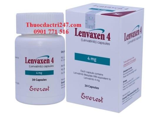 thuoc lenvaxen 4mg 10mg lenvatinib dieu tri ung thu, gia thuoc lenvaxen - thuoc dac tri 247