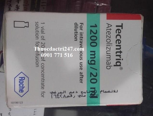 thuoc tecentriq 1200mg 20ml atezolizumab dieu tri ung thu, mua thuoc tecentriq o dau- thuoc dac tri 247