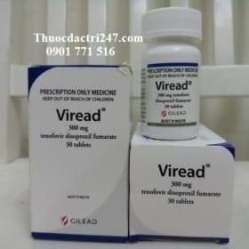 thuoc viread 300mg tenofovir ngan ngua virus, cong dung thuoc viread la gi - thuoc dac tri 247