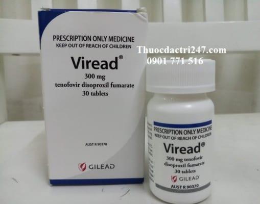thuoc viread 300mg tenofovir ngan ngua virus, gia thuoc viread bao nhieu - thuoc dac tri 247
